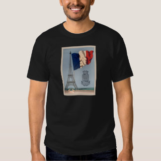 Vintage French National Flag & Eiffel Tower Shirts