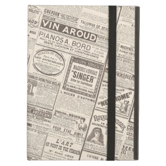 Vintage French Newspaper Ads Products for Women Case For iPad Air