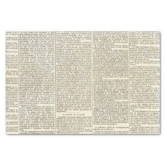 Vintage French Newspaper Tissue Paper