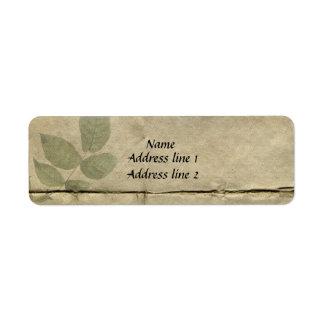 Vintage French Paper Address Labels