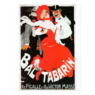 Vintage French Paris night life cabaret Bal Postcard