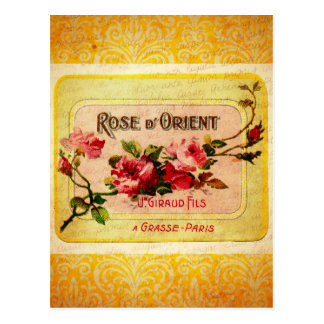 Vintage French Perfume Label Postcard