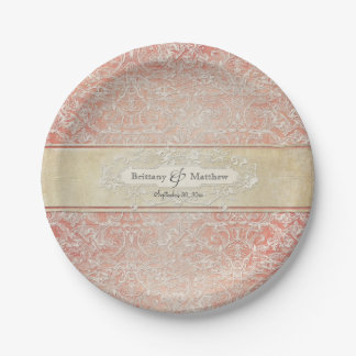 Vintage French Regency Lace Wedding Decor Paper Plate