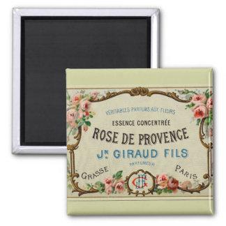 Vintage French Rose Label Paris Fridge Magnet