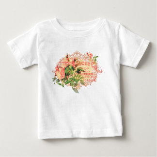 Vintage French, roses and advertising postcard Tees