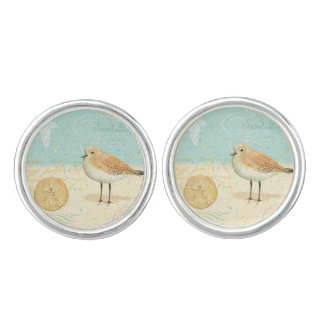 Vintage French Sand Piper Cufflinks