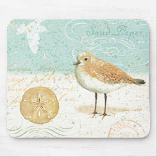 Vintage French Sand Piper Mouse Pad