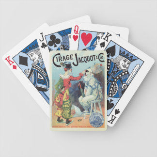 Vintage French shoe polish ad, clowns Bicycle Playing Cards