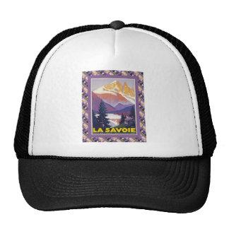 Vintage French Ski Resort Poster Trucker Hats