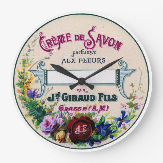 vintage french soap label clock