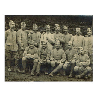 Vintage French, Soldiers World War I Postcard