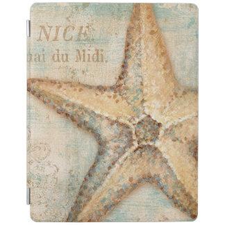 Vintage French Starfish Art iPad Cover
