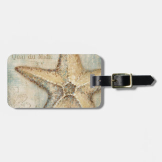 Vintage French Starfish Art Luggage Tag