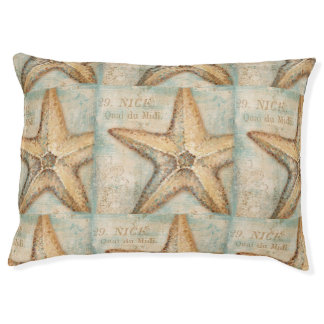 Vintage French Starfish Art Pet Bed