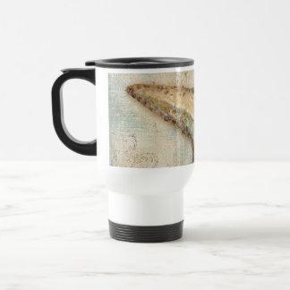 Vintage French Starfish Art Travel Mug