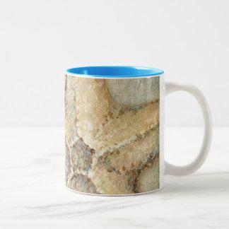 Vintage French Starfish Art Two-Tone Coffee Mug