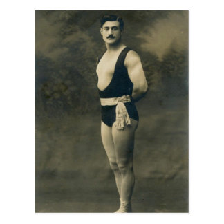 Vintage French Strongman Card