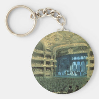 VINTAGE FRENCH THEATRE, OLD FRENCH THEATRE OPERA KEYCHAIN
