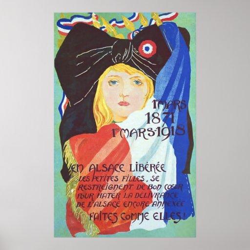 Vintage French World War 1. Poster