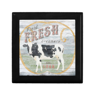Vintage Fresh Creamery Cow Gift Box
