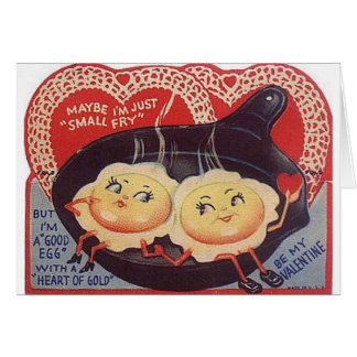 Vintage Fried Eggs Valentine s Day Greeting Card