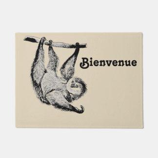 vintage friendly sloth -  BIENVENUE Doormat