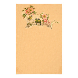 Vintage Friends- Birds And Florals- Stationery- No Stationery