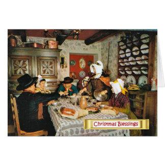 Vintage Frnace Auvergne family meal Greeting Cards