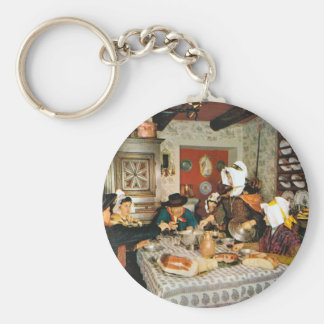 Vintage Frnace, Auvergne, family meal Keychain
