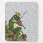 Vintage Frog Prince Charming Mousepad