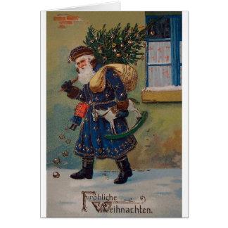 Vintage Fröhliche Weihnachten Christmas Card