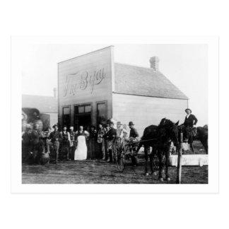 Vintage Frontier Town Saloon Postcard