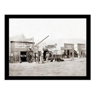 Vintage Frontier Town Shops Postcard