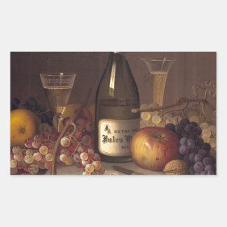 Vintage Fruit And Wine Sticker
