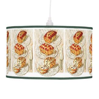 Vintage fruit cake illustration ceiling lamp