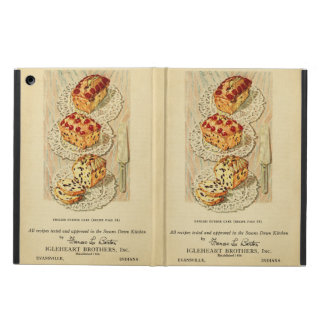 Vintage fruit cake illustration cover for iPad air