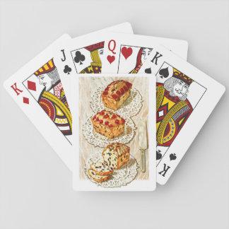 Vintage fruit cake illustration poker deck