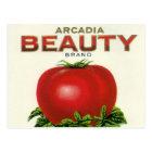 Vintage Fruit Crate Label, Arcadia Beauty Tomatoes Postcard