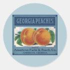 Vintage Fruit Crate Label Art, Georgia Peaches