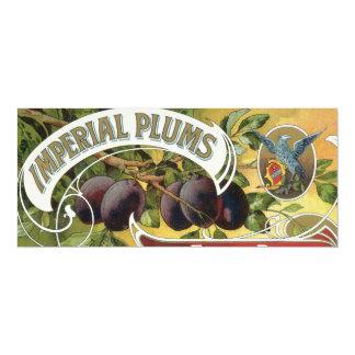 Vintage Fruit Crate Label Art, Imperial Plums Card