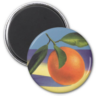 Vintage Fruit Crate Label Art, Juciful Oranges 2 Inch Round Magnet