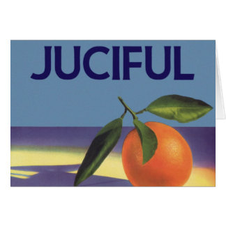Vintage Fruit Crate Label Art, Juciful Oranges Card