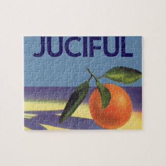 Vintage Fruit Crate Label Art, Juciful Oranges Puzzle