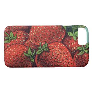 Vintage Fruit Crate Label Art Patriot Strawberries iPhone 8/7 Case