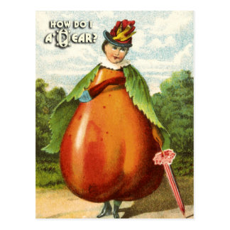 Vintage Fruit Postcard Series: Pear