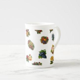 Vintage Fruits & Flowers Tea Cup