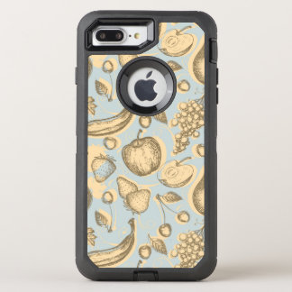 Vintage fruits pattern OtterBox defender iPhone 7 plus case