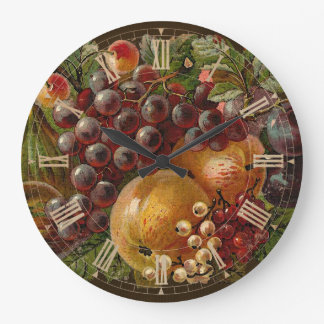 Vintage Fruits Roman Thanksgiving Clock