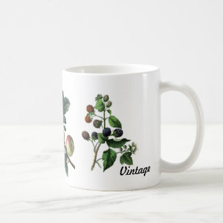 Vintage-fruits with branches-mug coffee mug