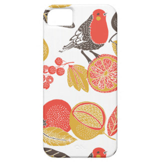 Vintage fruity bird wallpaper case for the iPhone 5